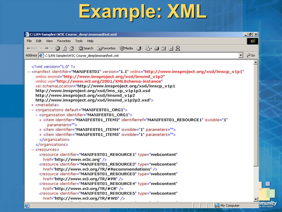 Learn xml by examples