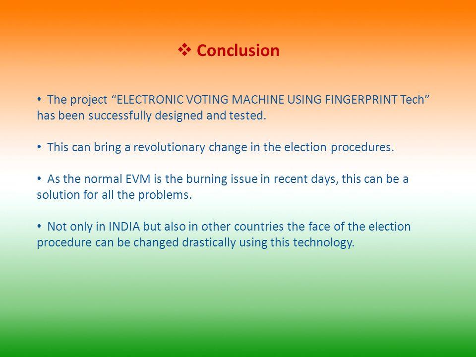 finger print based voting machine