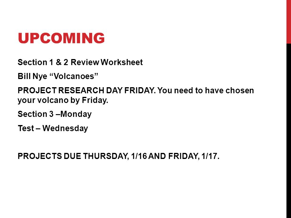 Volcanoes Chapter ppt download – Bill Nye Volcanoes Worksheet