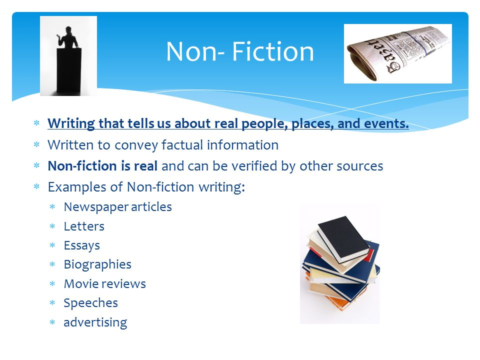 non fiction narrative essay Some creative writing falls into the category of creative nonfiction or literary  nonfiction,  essays, experimental (imrad) papers, scholarly personal  narratives,.