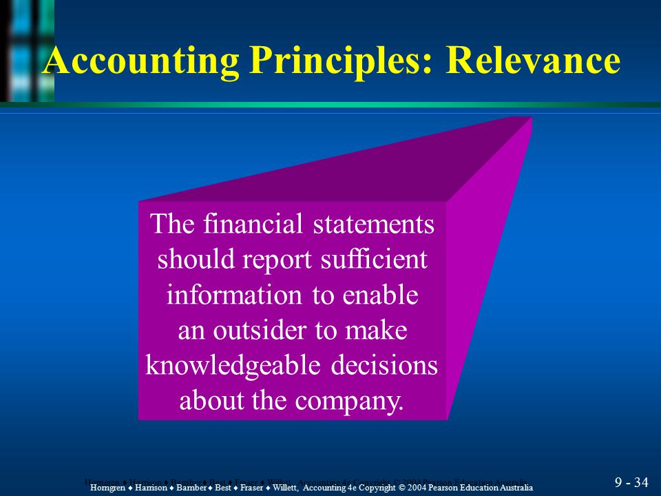 Accounting Principles: Relevance