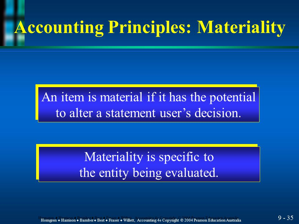 Accounting Principles: Materiality