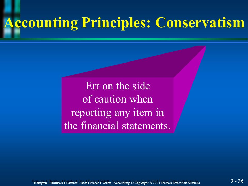 Accounting Principles: Conservatism
