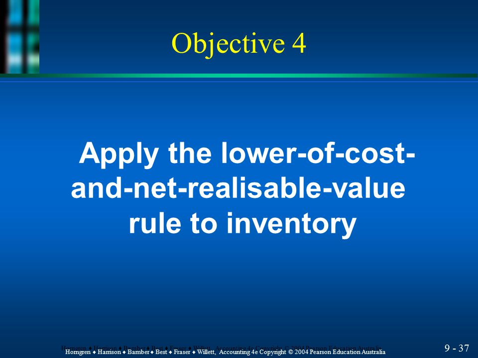 Apply the lower-of-cost- and-net-realisable-value