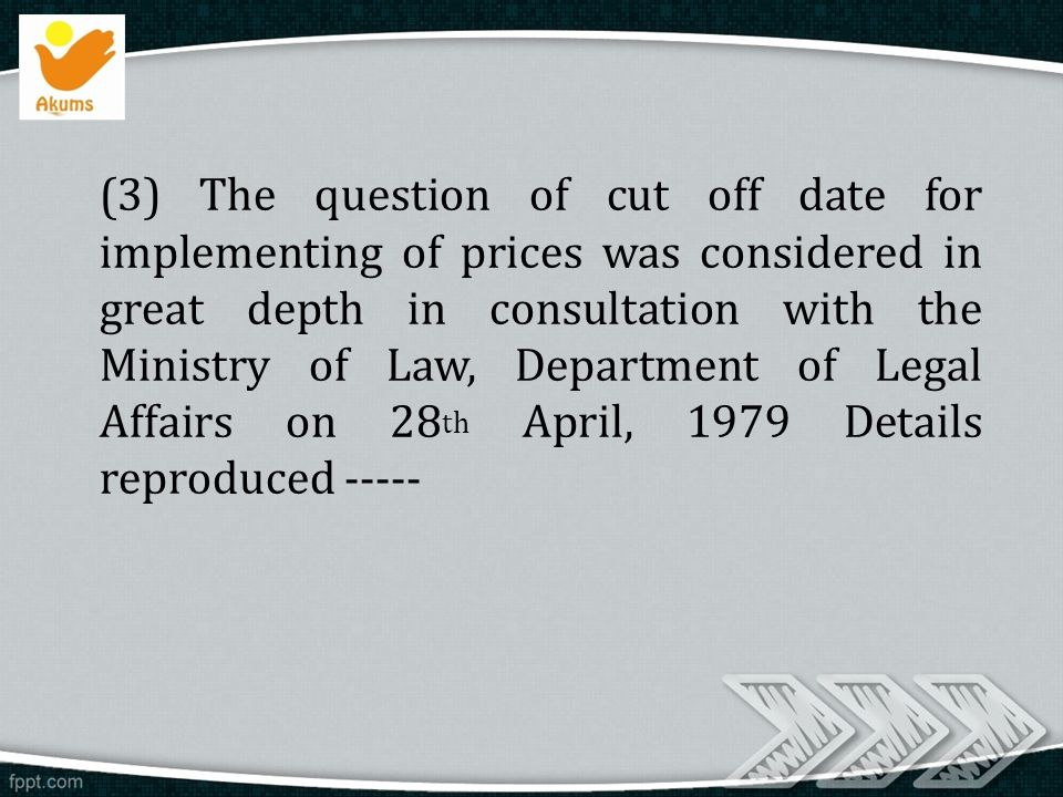 304 mohan place lsc block c saraswati vihar new delhi ppt question of cut off date for implementing of prices was considered in great depth in consultation with the ministry of law department of legal affairs sciox Gallery