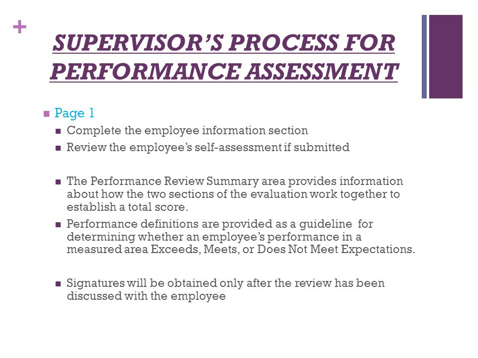 NonUnit Employee Evaluation Process  Ppt Download