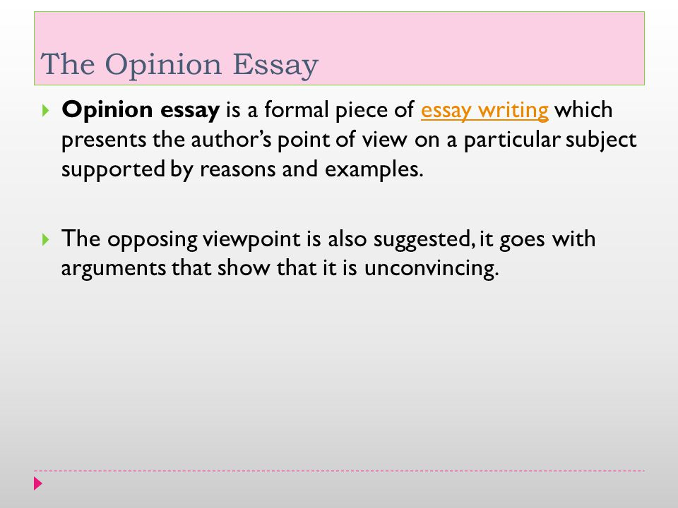 the opinion essay ppt video online  the opinion essay