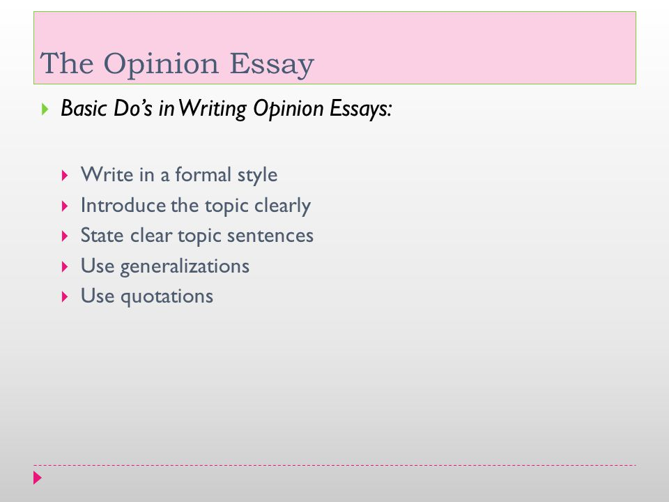 formal opinion essay examples