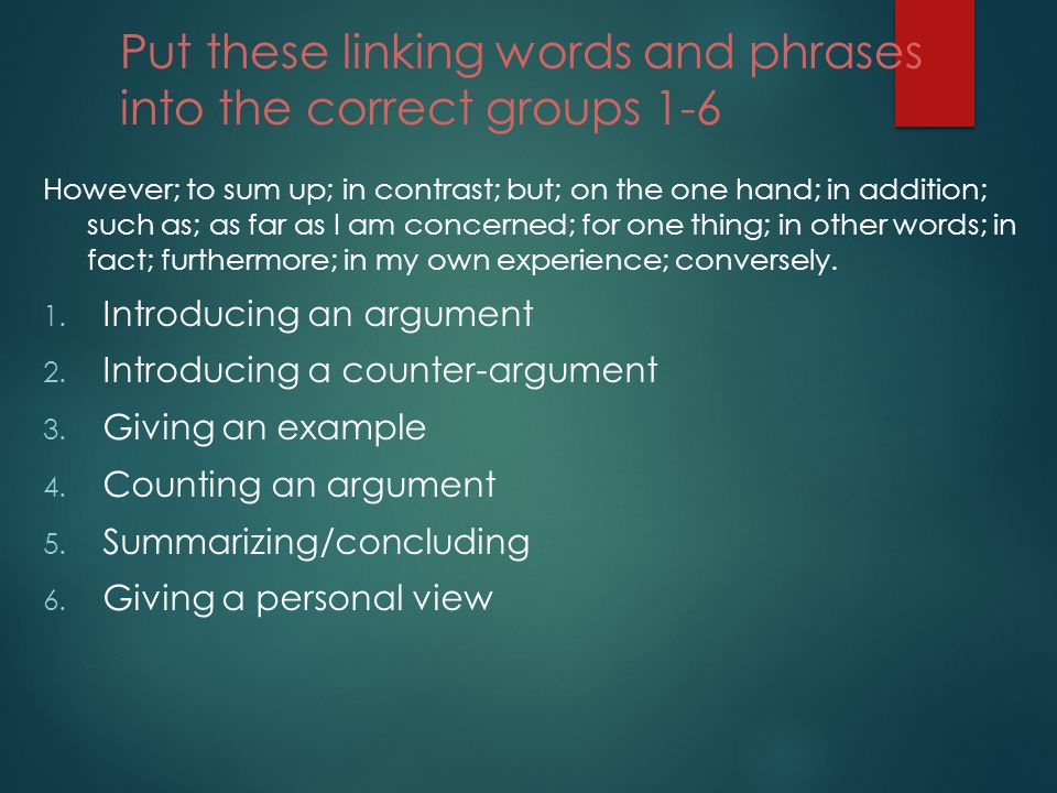 connecting words french essays Words and phrases that connect and make logical transitions in other words obviously without title: essay writing: transitions & connectives author.