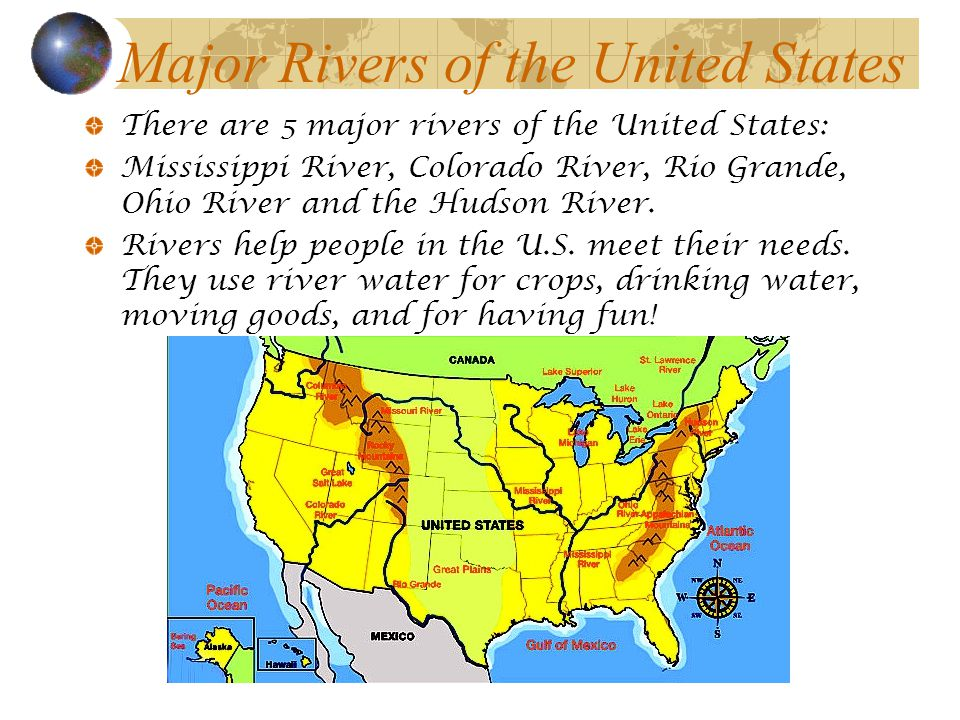 Major Rivers Of The United States