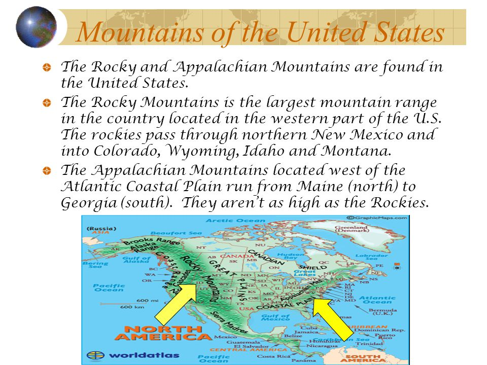 Map Skills Rd Grade Geography Ppt Video Online Download - Mountain ranges of united states