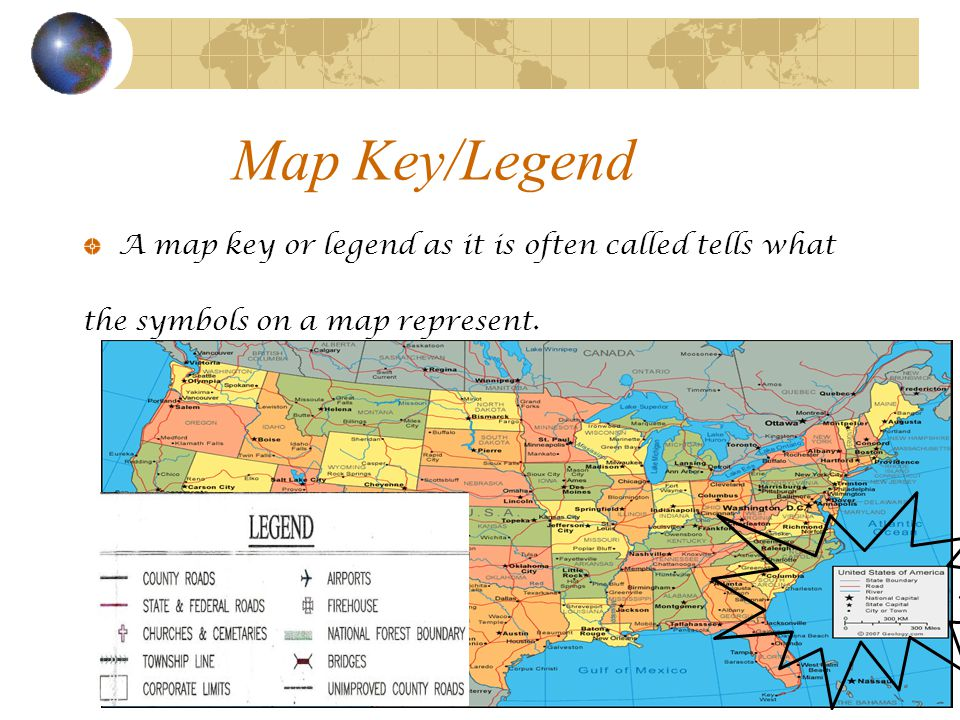 Map Skills Rd Grade Geography Ppt Video Online Download - Us map key