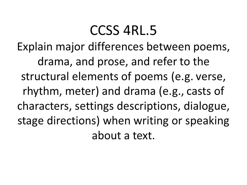 difference between poetry and drama Short stories, poetry and drama are different types of literature but they share many of the same elements some of the many elements shared are figures of speech, conflict.