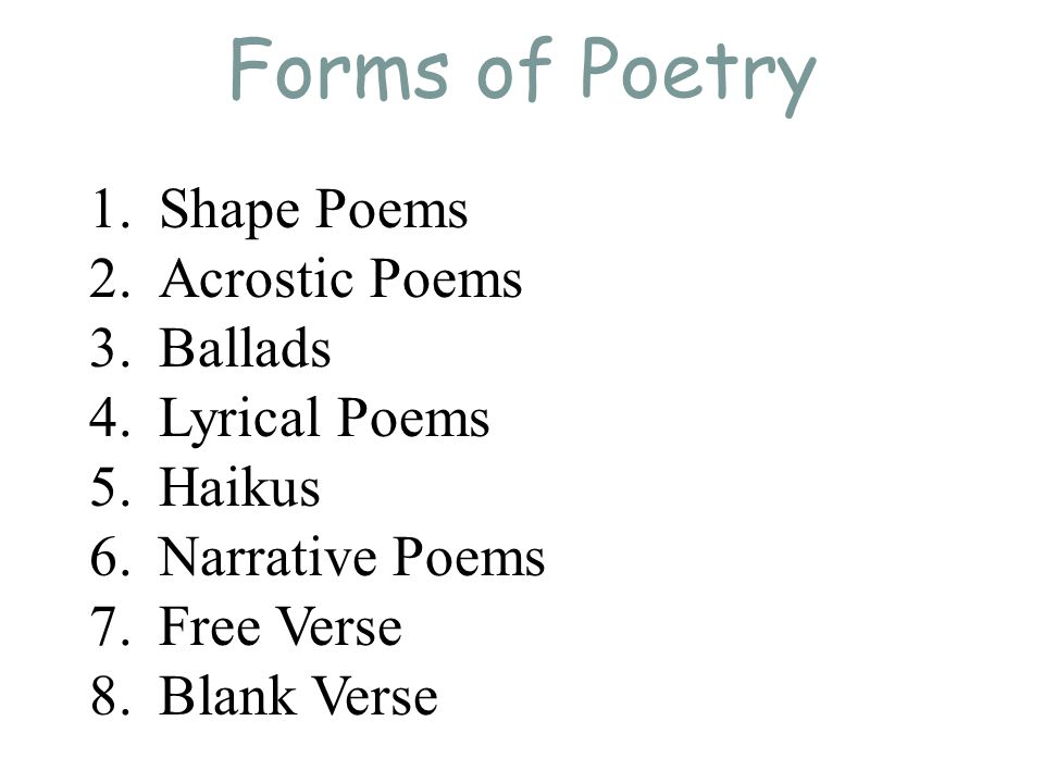 The Major Differences Between Poems and Prose - ppt video online ...