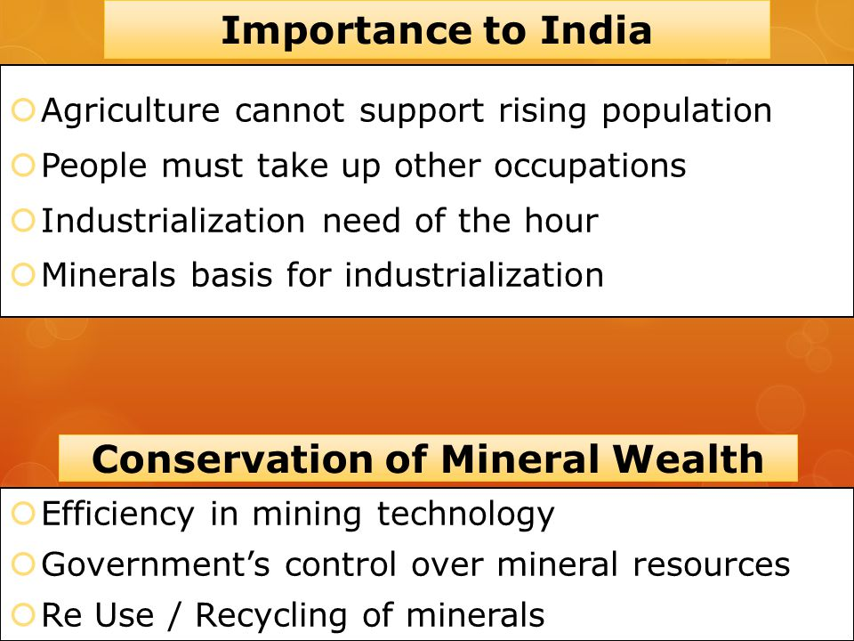 Conservation of Mineral Wealth