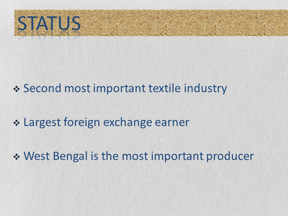 Second most important textile industry