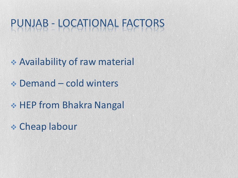Availability of raw material