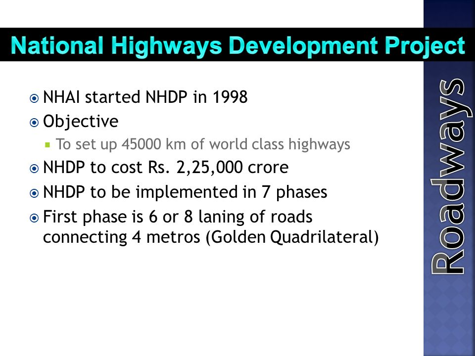 National Highways Development Project