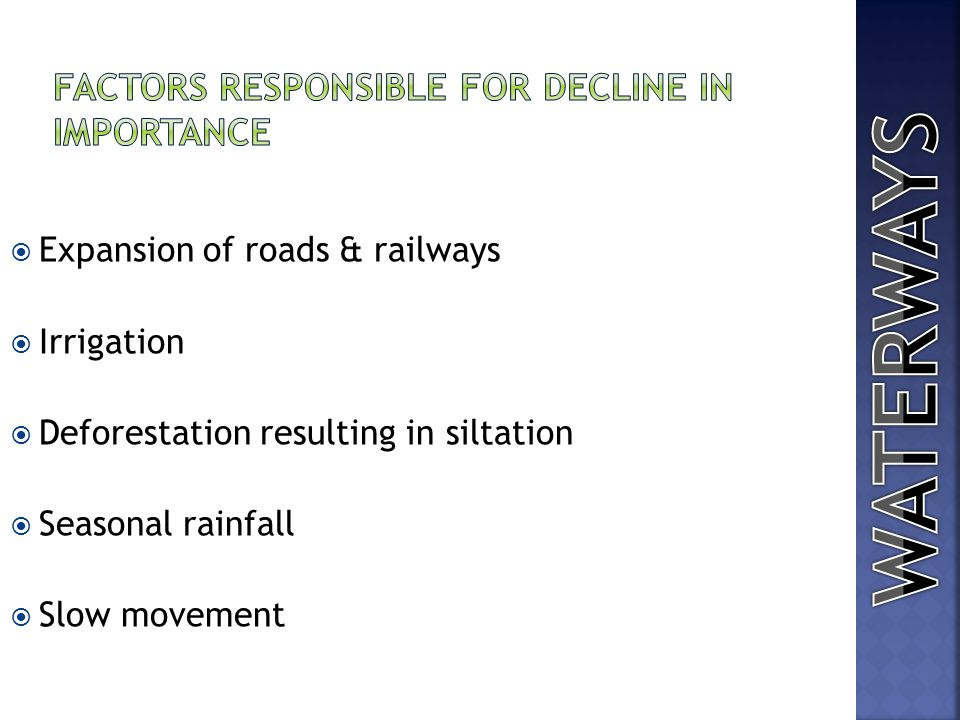 FACTORS RESPONSIBLE FOR DECLINE IN IMPORTANCE