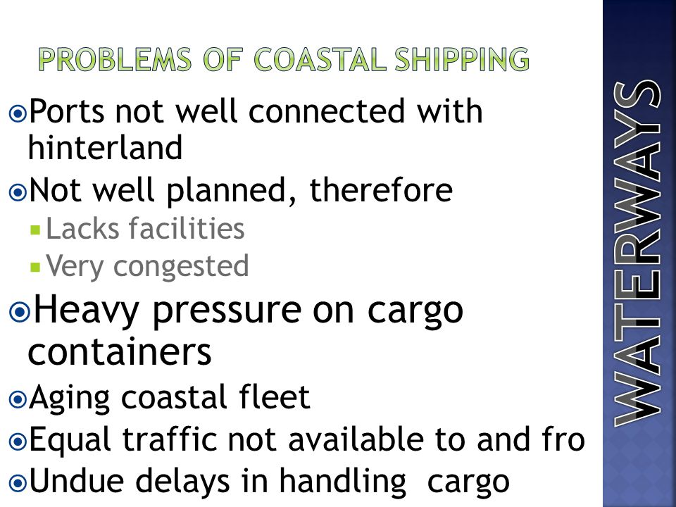 Problems of Coastal shipping
