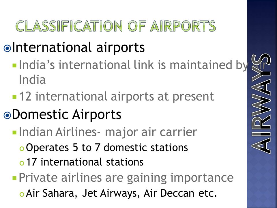 Classification of Airports