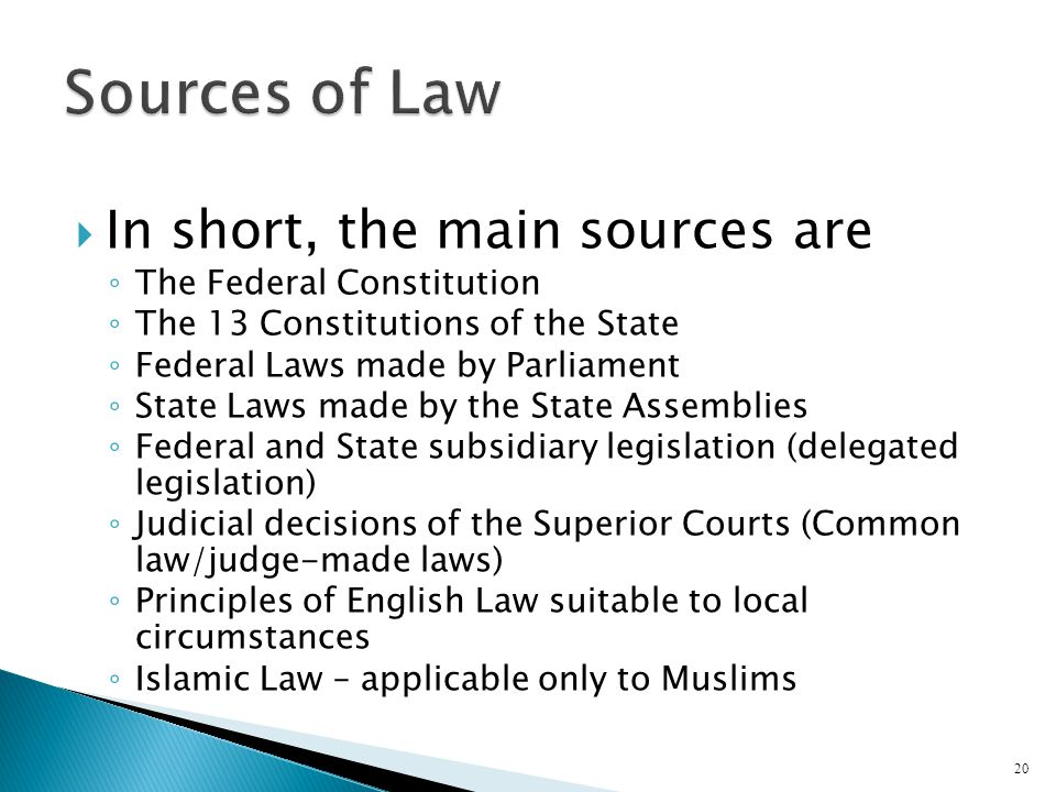 sources of legislation in scots law Coursework - discuss the following problems in relation to the scots law of contract you must refer to primary sources such as judicial precedent and legislation in.