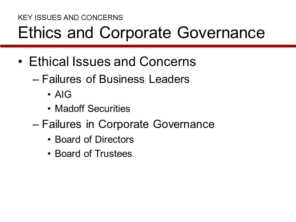 corporate governance and ethics practice Business ethics are good for  should be run in accordance with good corporate governance  corporate governance: why the board must lead on.