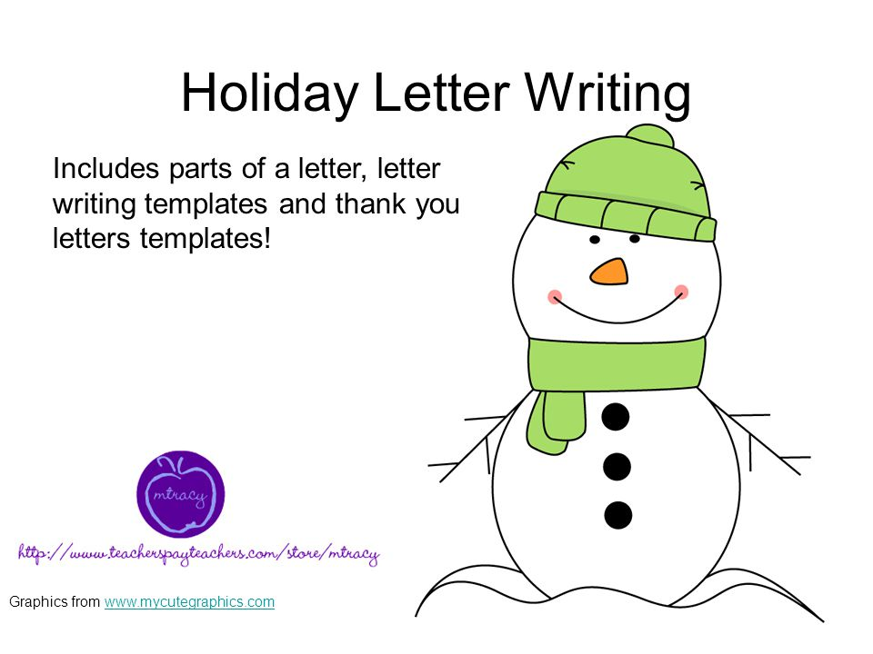 holiday letter writing