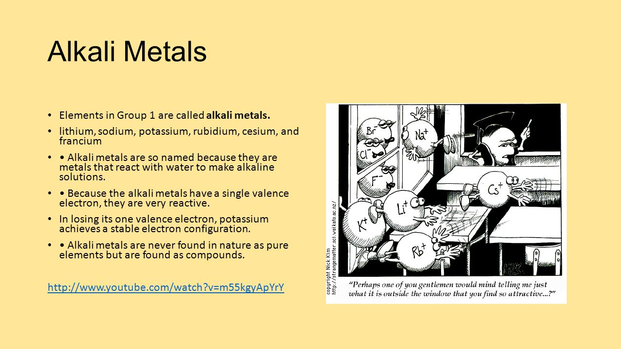 Alkali metals elements in group 1 are called alkali metals ppt alkali metals elements in group 1 are called alkali metals gamestrikefo Gallery