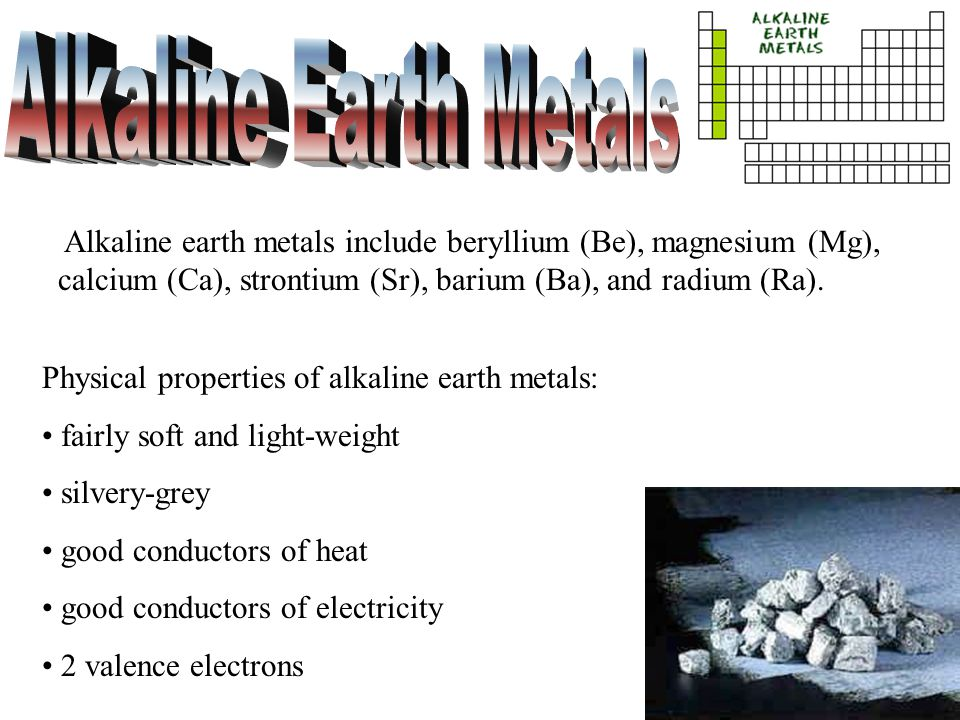 Periodic table properties of alkaline earth metals periodic table families of the periodic table ppt download periodic table properties of alkaline earth metals urtaz Images
