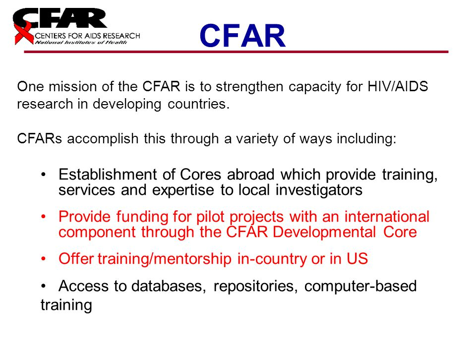NIAID Funding Opportunities in HIV/AIDS Research - ppt ...