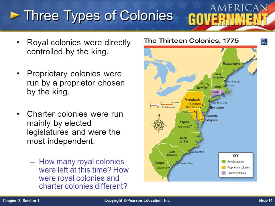 Three Types of Colonies