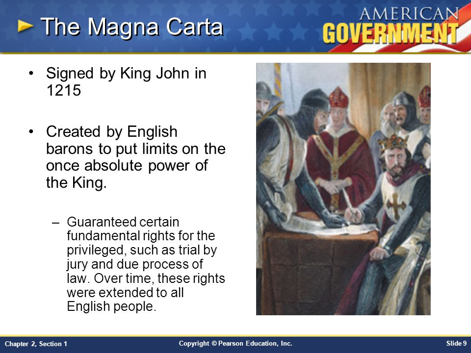 The Magna Carta Signed by King John in 1215