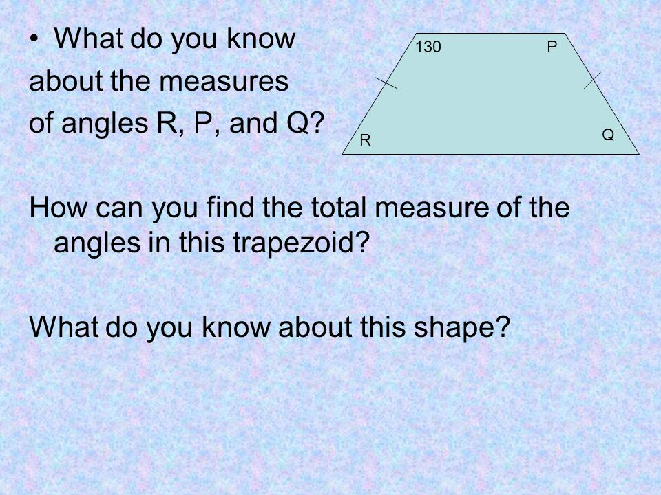 how to find the total angles of a shape
