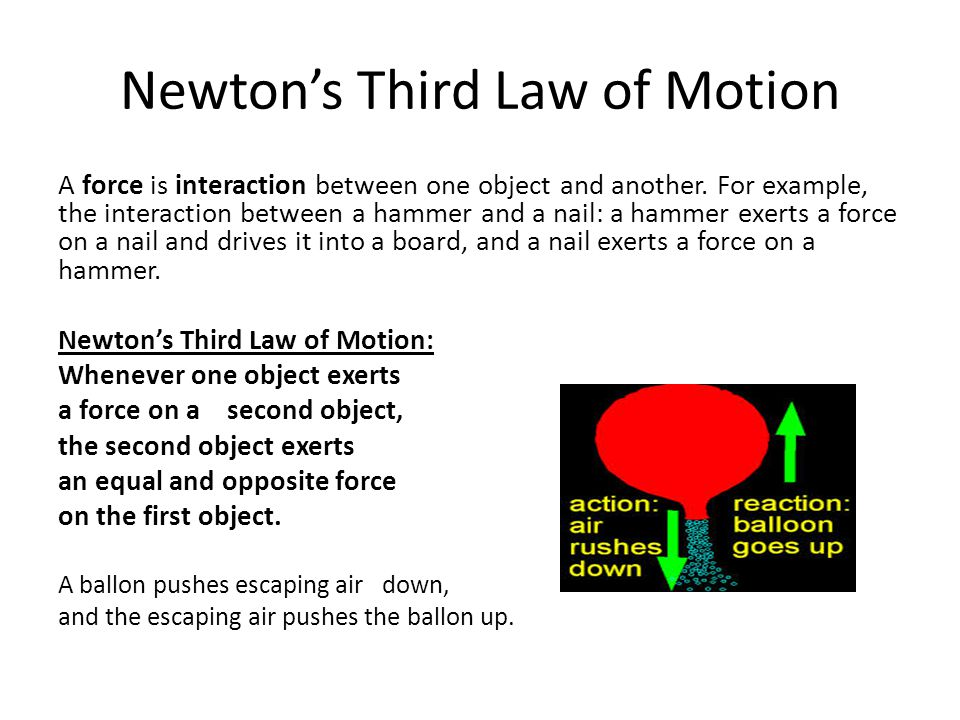 newton s 3 laws of motion examples