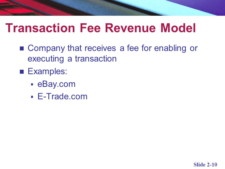 Transaction Fee Revenue Model
