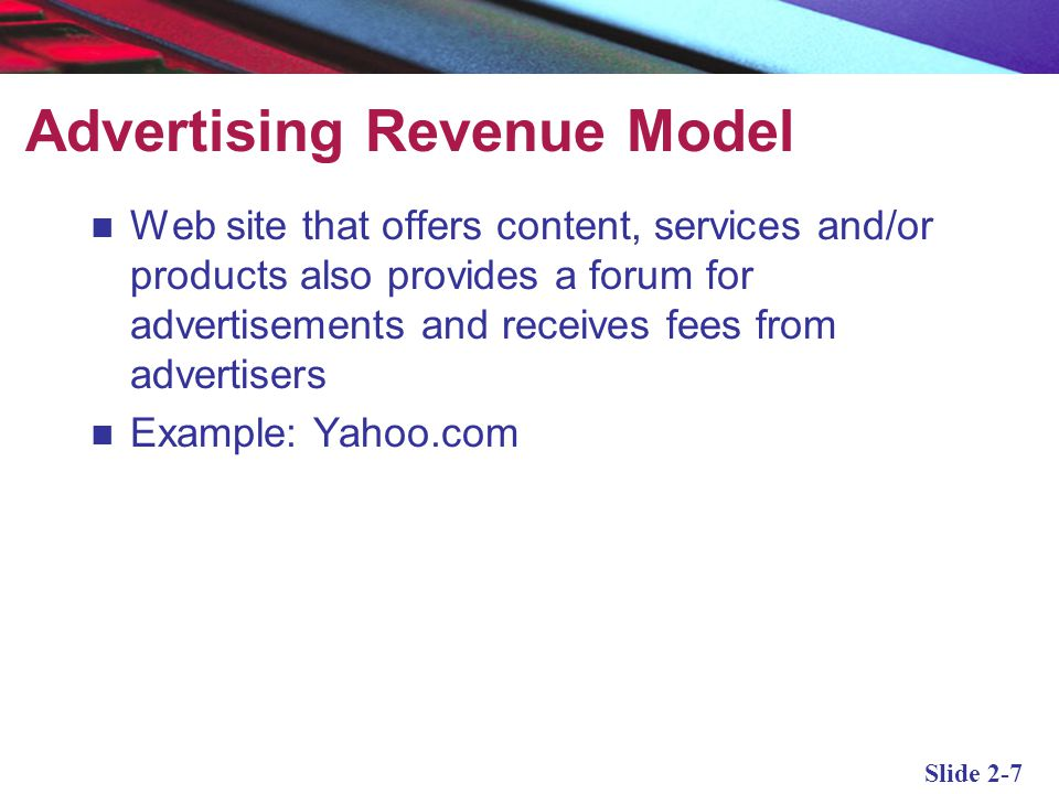 Advertising Revenue Model