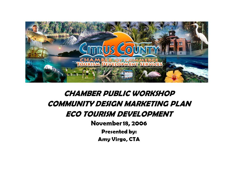 ecotourism marketing plan Product development, marketing and promotion of ecotourism: summary report thematic area: c dr richard denman the tourism company 11a.