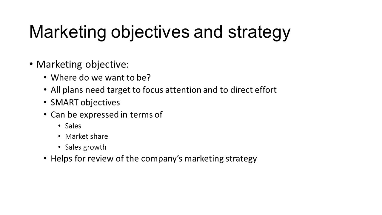 overall strategic objective and the marketing plan Your marketing plan should be the reference document you use as a basis to execute your marketing strategy it sets out clear objectives and explains how you will achieve them perhaps most importantly it looks at how you can ensure that your plan becomes reality.