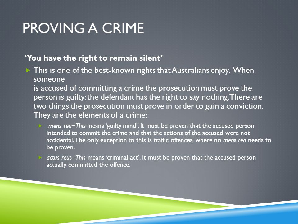 Topic 1: Definition and Principles of Crime