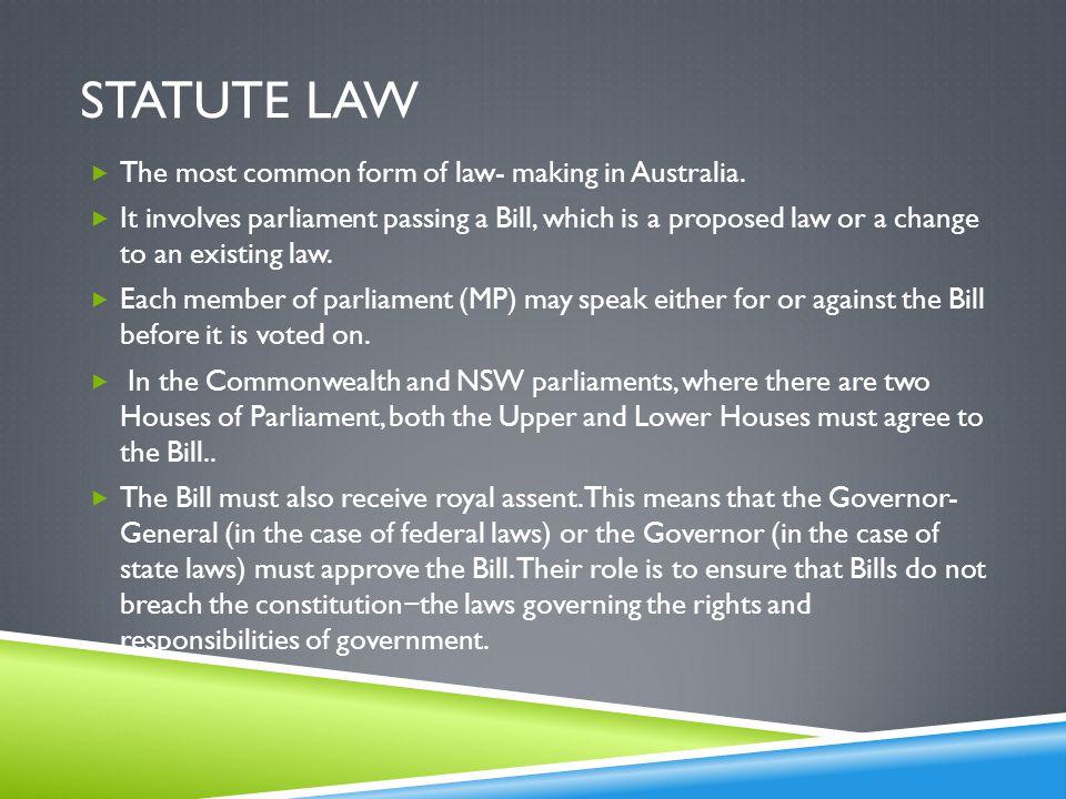 common law state statute