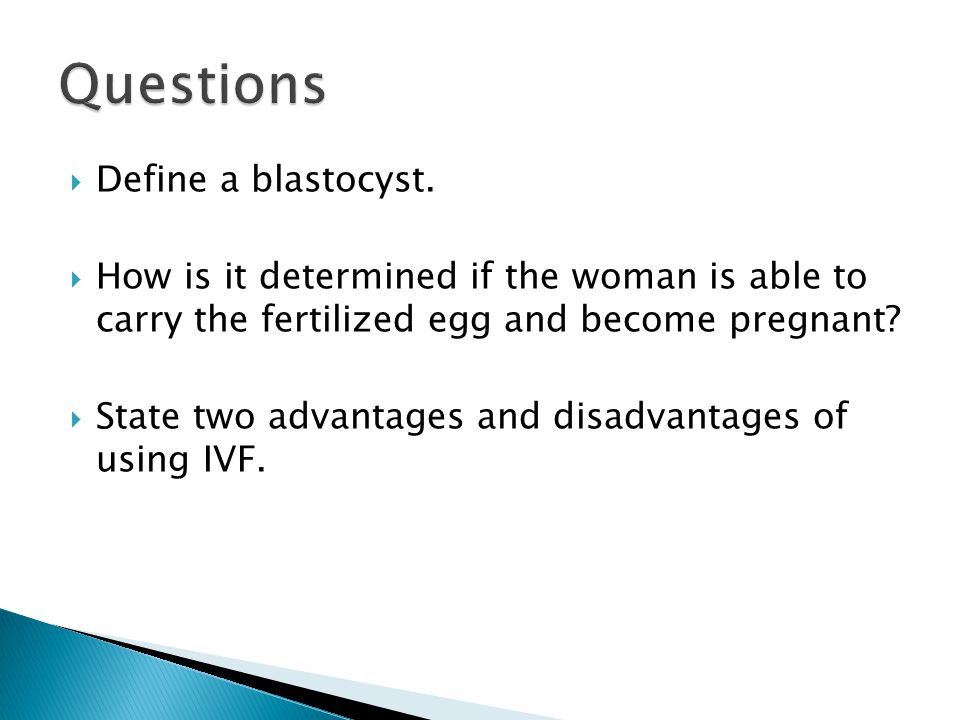 the advantage and disadvantages of using three parent in vitro fertilization Three-parent in vitro fertilization: gene replacement for the prevention of inherited mitochondrial diseases one advantage of spindle transfer over pronuclear transfer is that donor oocytes need not be fertilized.