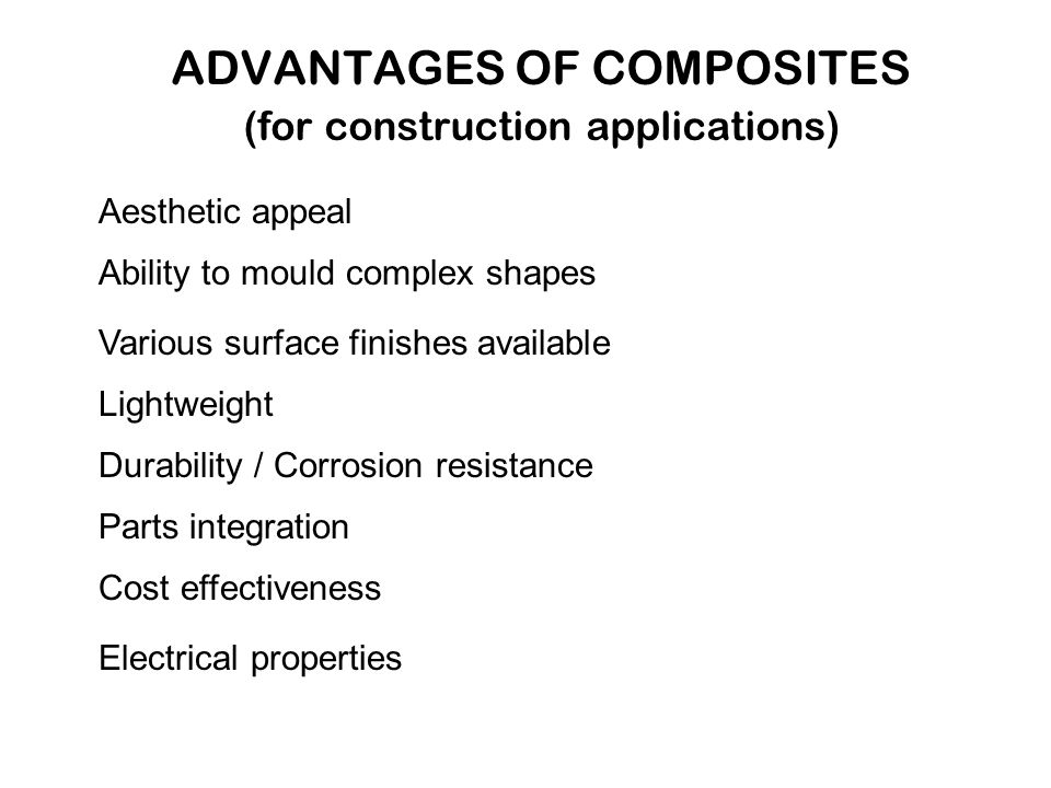 Advantages of Composite Materials
