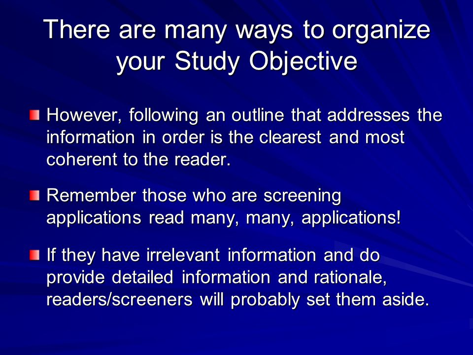 objective manner essay