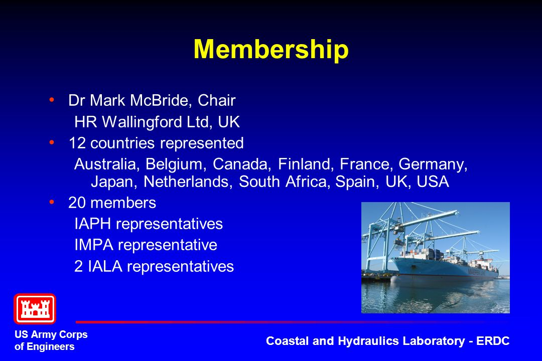 Membership Dr Mark McBride, Chair HR Wallingford Ltd, UK