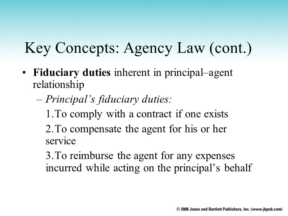 principal agent relationship duties definition