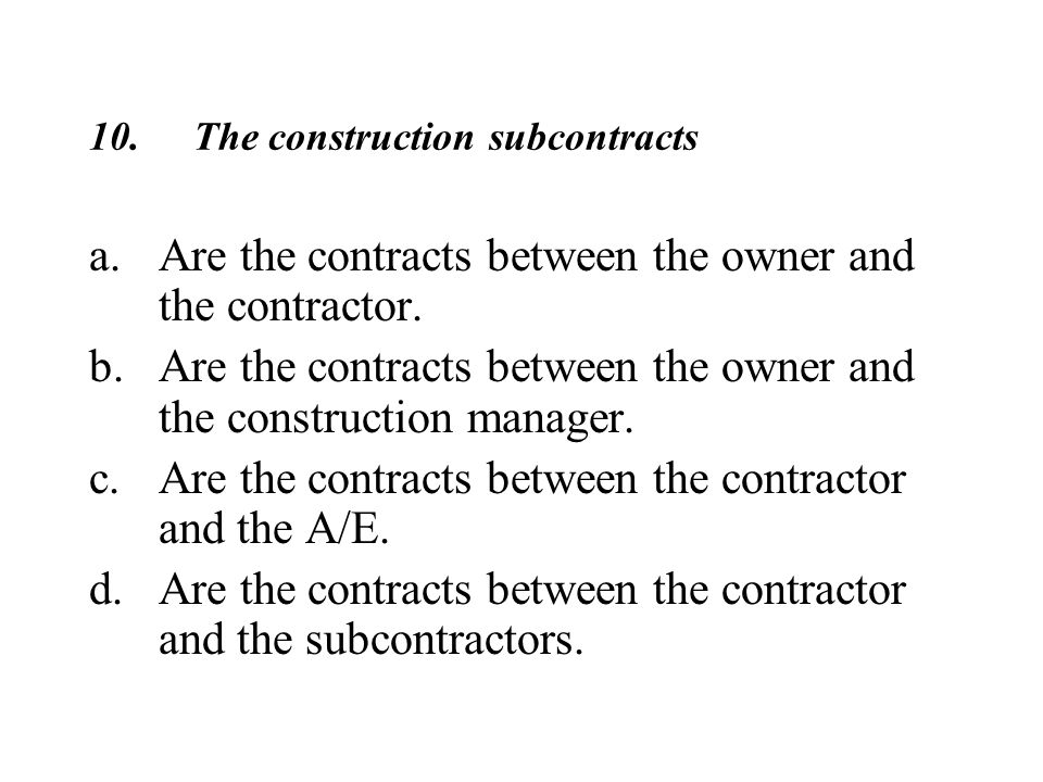 Construction Contracts Ppt Video Online
