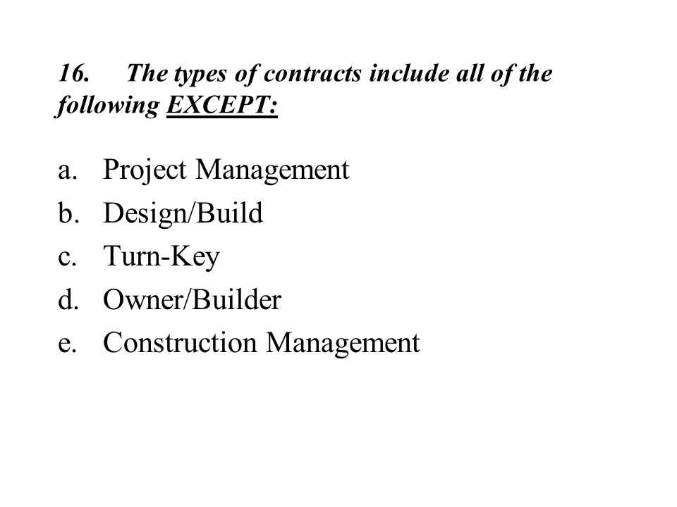All Of The Following Are Principles Of Design Except : Construction contracts ppt video online download