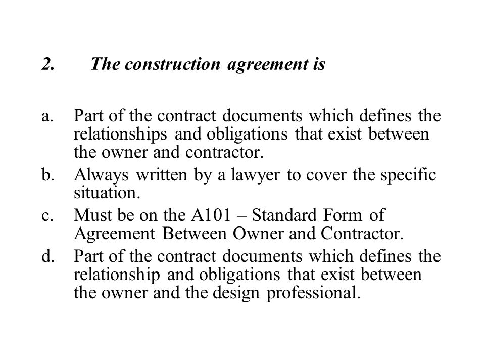 Construction Contracts - Ppt Download