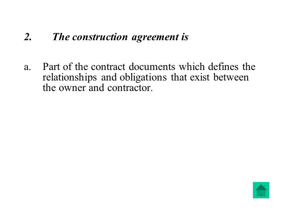 Construction Contracts  Ppt Download